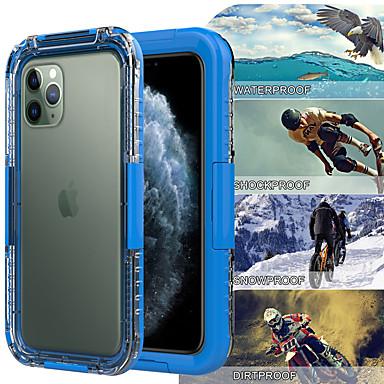 Недорогие Кейсы для iPhone 6-профессиональный водонепроницаемый чехол для iphone 11/11 pro / 11 pro max / x xs / xr / xs max / 7 8 плюс ip68 водонепроницаемый плавание дайвинг 30 м спорт на открытом воздухе