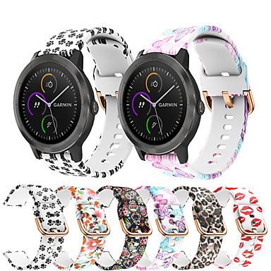 voordelige Smartwatch-accessoires-siliconen horlogeband afdrukken voor Garmin vivoactive 3 / vivomove HR / Forerunner 645 / 245m / venu / vivomove vervangbare armband polsband polsband