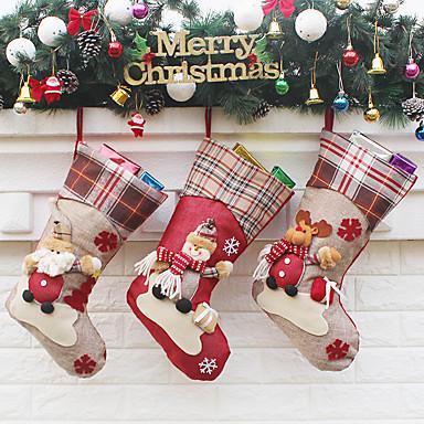 povoljno Dekoracija doma-božićne čarape elk novogodišnja bombonska vrećica ukrasi za božićno drvce party djeca poklon vrećice