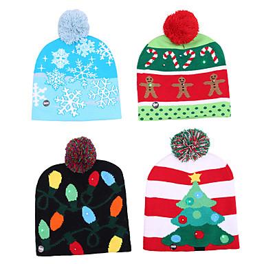 رخيصةأون تزيين المنزل-أدى قبعة عيد الميلاد محبوك قبعة دافئة واقية جميلة بارد الكلاسيكية الرومانسية هدية عيد الميلاد الغلاف الجوي