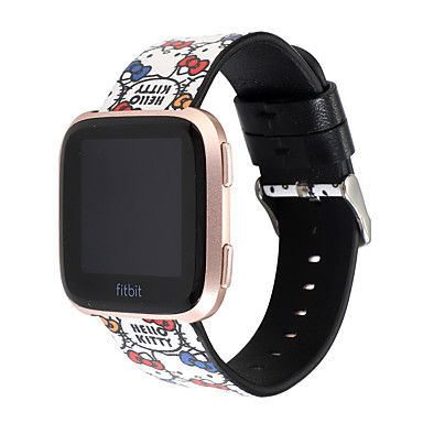 voordelige Smartwatch-accessoires-schattige cartoon lederen band voor fitbit versa 1 versa 2 versa familie vervanging micky mine mooie lederen band voor fitbit versa