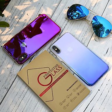 voordelige iPhone 6 Plus hoesjes-hoesje met schermbescherming voor Apple stofdicht / plating / transparante achterkant kleurverloop pc voor iPhone 7/7 p / 8/8 p / 6/6 plus / x / xs / xr / xs max