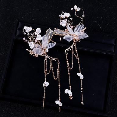 olcso Fülgyűrűk-Női Fül Mandzsetta Klasszikus Pillangó Stílusos Fülbevaló Ékszerek Arany Kompatibilitás Esküvő Parti 2pcs
