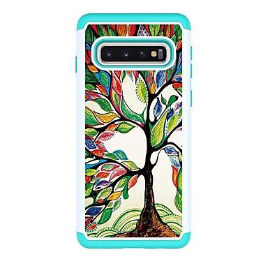 Недорогие Чехлы и кейсы для Galaxy S-Кейс для Назначение SSamsung Galaxy S9 / S9 Plus / S8 Plus Защита от удара / С узором Кейс на заднюю панель дерево Кожа PU