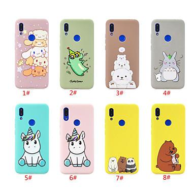 Недорогие Чехлы и кейсы для Xiaomi-чехол для xiaomi xiaomi redmi note 5 pro / xiaomi redmi note 7 / xiaomi redmi 7 рисунок задней обложки животное / мультфильм тпу
