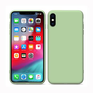 Siliconen hoesje voor Apple iPhone 11 vloeibare siliconen volledige lichaamsbescherming iPhone 11 pro schokbestendige hoes massief veelkleurig silicagel iPhone 7 / iPhone X / iPhone 8