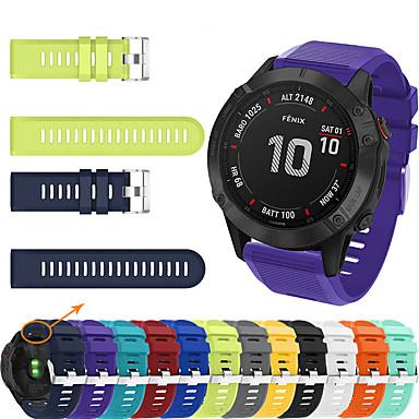 voordelige Horlogebandjes voor Garmin-sport siliconen horlogeband voor garmin fenix 6x pro / 5x plus / fenix 3 uur / 3 saffier / d2 bravo snelle vervanging easy fit armband polsband polsband