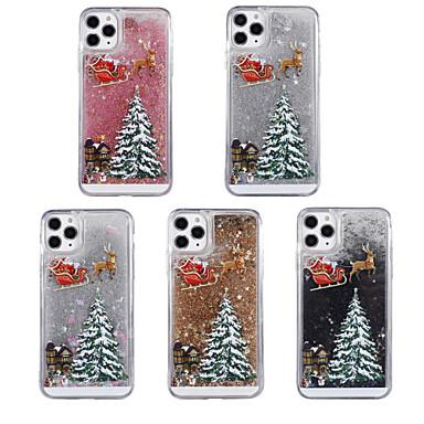 voordelige iPhone 8 hoesjes-hoesje Voor Apple iPhone 11 / iPhone 11 Pro / iPhone 11 Pro Max Stromende vloeistof / Patroon / Glitterglans Achterkant Kerstmis TPU