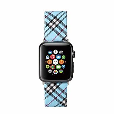voordelige Smartwatch-accessoires-horlogeband voor Apple Watch-serie 5/4/3/2/1 Apple Burberry-stijl klassieke gesp polsband