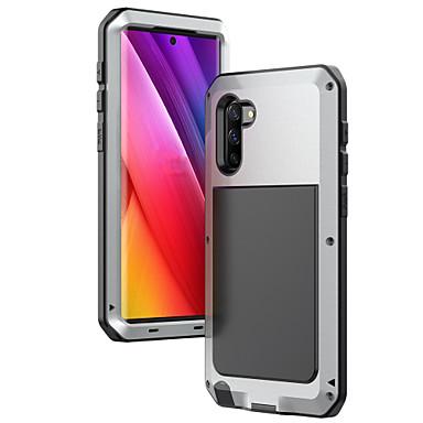 olcso Galaxy Note 3 tokok-Case Kompatibilitás Samsung Galaxy Note 9 / Note 8 / Note 5 Ütésálló Fekete tok Egyszínű Silica Gel / Alumínium