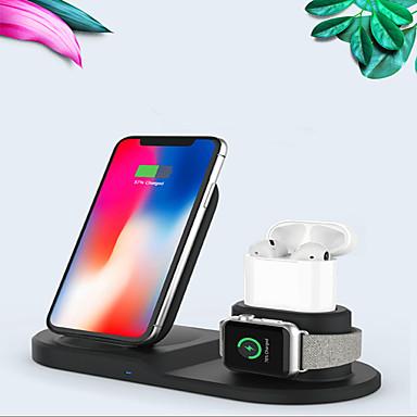 olcso Mobiltelefon tartozékok-többfunkciós 3 az 1-ben vezeték nélküli töltő repülőgépekhez / iphone 11/11 pro / xr / xs / 8/8 plus és Apple Watch sorozathoz