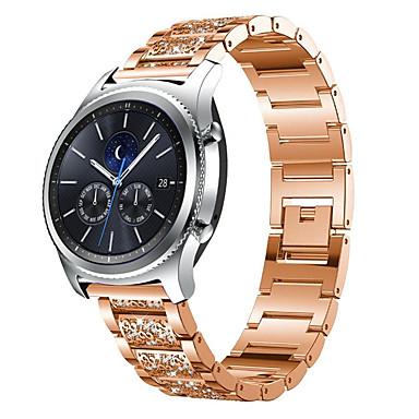 Недорогие Часы для Samsung-22мм браслет из нержавеющей стали с бриллиантами из нержавеющей стали для часов Samsung Galaxy 463 s3 classic band