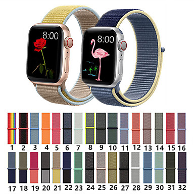 voordelige Apple Watch-bandjes-nylon geweven sport loop armband horlogeband band voor Apple iwatch-serie 5 4 3 2 1