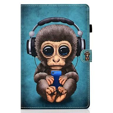 رخيصةأون أغطية أيباد-غطاء من أجل Apple iPad Air / iPad 4/3/2 / iPad (2018) حامل البطاقات / مع حامل / نموذج غطاء كامل للجسم حيوان جلد PU / TPU