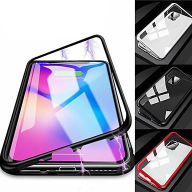 Недорогие Кейсы для iPhone-односторонний магнитный чехол для телефона для iphone 11 pro max xr xs max x 8 плюс 7 плюс 6 плюс металлический магнит закаленное стекло откидная крышка