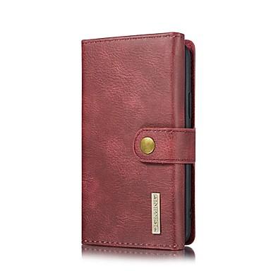 Недорогие Кейсы для iPhone 7 Plus-Кейс для Назначение Apple iPhone 11 / iPhone 11 Pro / iPhone 11 Pro Max Кошелек / Бумажник для карт / со стендом Чехол Однотонный Настоящая кожа