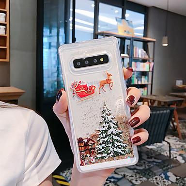 رخيصةأون حافظات / جرابات هواتف جالكسي S-غطاء من أجل Samsung Galaxy S9 / S9 Plus / S8 Plus سائل متدفق / نموذج / بريق لماع غطاء خلفي شجرة / عيد الميلاد TPU