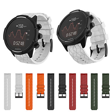 voordelige Smartwatch-accessoires-siliconen vervangende polsband voor suunto 9 gps horloge / 9 baro / 9 baro covers / 9 baro titanium / spartan / spartan baro