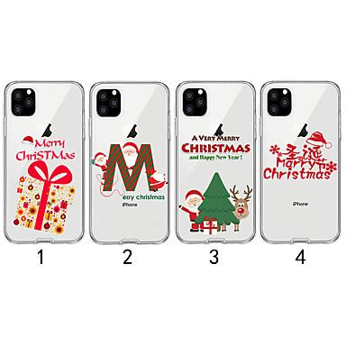 voordelige iPhone 6 hoesjes-hoesje Voor Apple iPhone 11 / iPhone 11 Pro / iPhone 11 Pro Max Transparant / Patroon Achterkant Kerstmis TPU