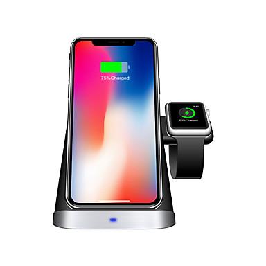 رخيصةأون Smartwatch كابلات وشواحن-حامل حامل شاحن لاسلكي 3 في 1 10w qi محطة شحن لاسلكية سريعة للآيفون 11 / 11pro / 11 pro max / xs max / xr / x samsung galaxy s10 + لسلسلة apple iwatch 5/4/3/2/1 و airpods