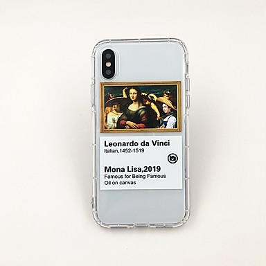 Недорогие Кейсы для iPhone 7-Кейс для Назначение Apple iPhone XS / iPhone XR / iPhone XS Max Ультратонкий / Прозрачный / С узором Кейс на заднюю панель Прозрачный / Мультипликация ТПУ