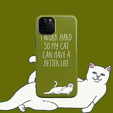 voordelige iPhone-hoesjes-hoesje Voor Apple iPhone 11 / iPhone 11 Pro / iPhone 11 Pro Max IMD / Patroon Achterkant Kat / Woord / tekst TPU