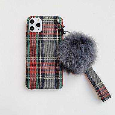 Недорогие Кейсы для iPhone-Кейс для Назначение Apple iPhone 11 / iPhone 11 Pro / iPhone 11 Pro Max Своими руками Кейс на заднюю панель Плюш текстильный