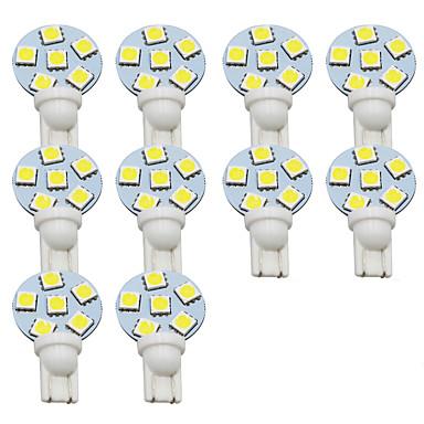 olcso Szerelő világítás-10pcs T10 Autó Izzók 1 W SMD 5050 300 lm 6 LED Rendszámtábla világítás / Munkafény / Hátsó lámpa Kompatibilitás Univerzalno Avenger / Elysee / 9-5