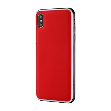 voordelige iPhone-hoesjes-hoesje Voor Apple iPhone XS / iPhone XR / iPhone XS Max Schokbestendig / Ultradun Achterkant Effen PU-nahka / TPU