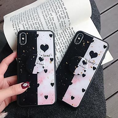 voordelige iPhone 6 hoesjes-appel geschikt voor xs max / xr / x met ringbeugel 6/7/8 stiksels love 6 plus / 7 plus / 8 plus half hoes achteraan mobiele telefoonhoes