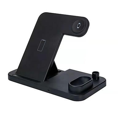 voordelige Smartwatch-accessoires-draadloos opladen multifunctionele opvouwbare verticale vier-in-één draadloze oplader standaard mat dock voor airpods / apple pencil / iphone 11/11 pro / xr / xs / 8/8 plus en samsung en apple