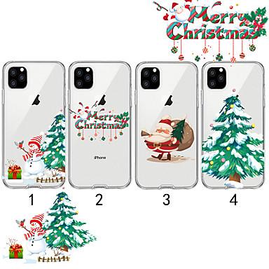 voordelige iPhone-hoesjes-hoesje Voor Apple iPhone 11 / iPhone 11 Pro / iPhone 11 Pro Max Transparant / Patroon Achterkant Kerstmis TPU