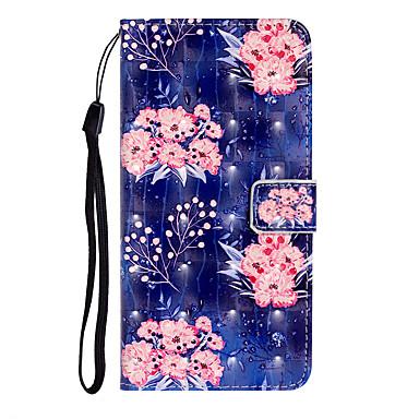 Недорогие Чехлы и кейсы для Galaxy S-Кейс для Назначение SSamsung Galaxy S9 / S9 Plus / S7 edge Бумажник для карт Чехол Цветы Кожа PU