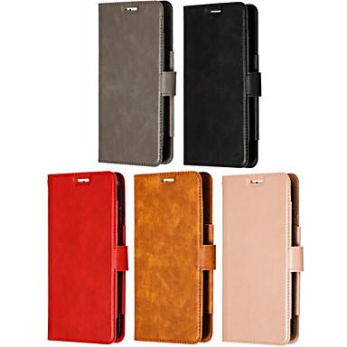 voordelige Galaxy Note 5 Hoesjes / covers-hoesje Voor Samsung Galaxy Note 9 / Note 8 / Note 5 Kaarthouder / Flip / Magnetisch Volledig hoesje Effen PU-nahka / TPU