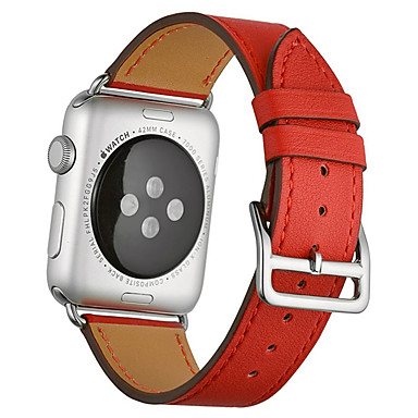 voordelige Apple Watch-bandjes-Horlogeband voor Apple Watch Series 5 / Apple Watch Series 4 / Apple Watch Series 3 Apple Leren lus Gewatteerd PU-leer Polsband