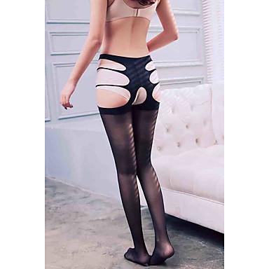olcso Férfi fehérnemű és zoknik-Női Harisnyanadrág - Egyszínű Vékony Fekete Egy méret