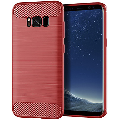 Недорогие Чехлы и кейсы для Galaxy S-Кейс для Назначение SSamsung Galaxy S8 Plus / S8 / S8 Edge Защита от удара / Ультратонкий / Матовое Кейс на заднюю панель Полосы / волосы ТПУ