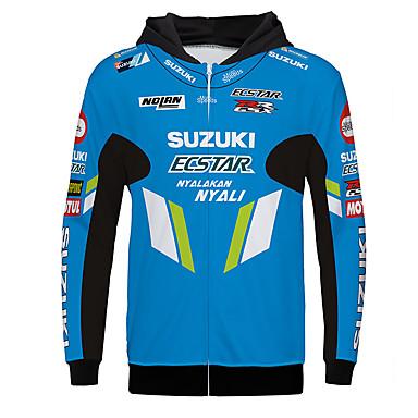 billige Motorcykeljakker-suzuki forår / efterår / vinter polyster varmere åndbar hurtigt tørr racing jersey motorcykeltrøje tøjjakke til unisex