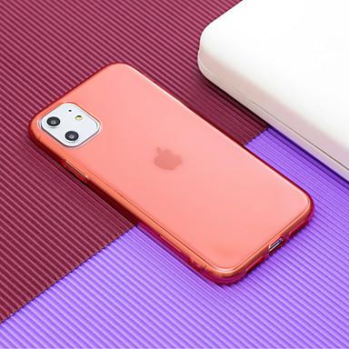 Недорогие Кейсы для iPhone-чехол для apple iphone 6 6s 6p 6sp iphone 7 7p 8 8p iphone x iphone xs iphone xr iphone xs max iphone 11 11 pro 11 pro max прозрачная задняя крышка прозрачный однотонный тпу