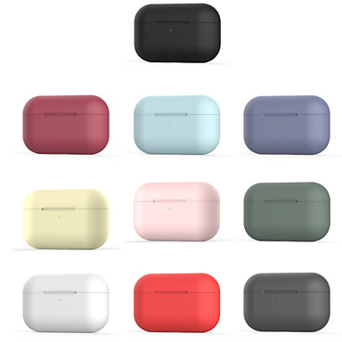 billige Nyheter-airpods veske det nye silikon myke, nydelige mønsteret bærbart for airpods pro (airpods ladetui ikke inkludert)