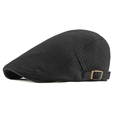 رخيصةأون قبعات الرجال-الخريف أسود رمادي فاتح أزرق البحرية قبعة قلنسوة لون سادة رجالي بوليستر,أساسي