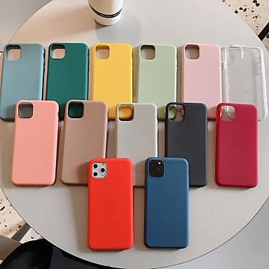 cheap iPhone X Cases-TPU Case For Apple iPhone 11 / iPhone 11 Pro / iPhone 11 Pro Max Cheap Simple Case Shockproof Back Cover Solid Colored for iPhone SE2020 iPhone XR XS MAX Protective Case Cover for iPhone 7/8/SE