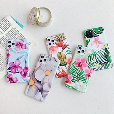 levne iPhone pouzdra-Carcasă Pro Apple iPhone 11 / iPhone 11 Pro / iPhone 11 Pro Max IMD / Matné / Vzor Zadní kryt Květiny TPU