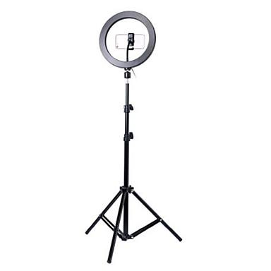 economico Asta per selfie con treppiede-fotografia led autoscatto anello luminoso 26 cm metallo dimmerabile anello luminoso per cellulare / telefono con treppiede 110/160 cm per studio video trucco