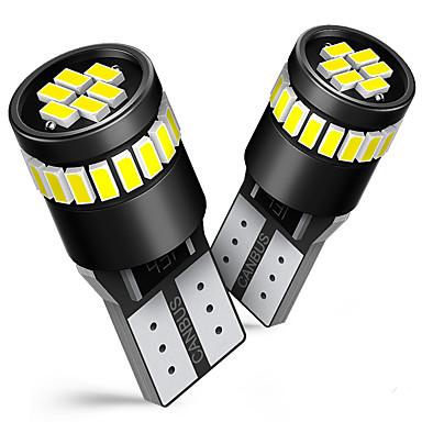 olcso Autó lámpák-2db w5w t10 led canbus izzók bmw audi mercedes autó belső olvasására parkoló lámpák fehér kék piros sárga nincs hiba 12v