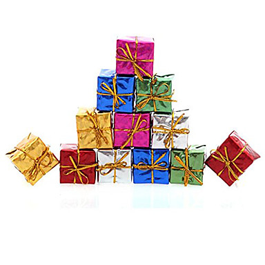 رخيصةأون تزيين المنزل-12p جيم هدايا عيد الميلاد الديكور ofing دور شجرة عيد الميلاد الحلي اللون هدية عيد الميلاد عشوائي