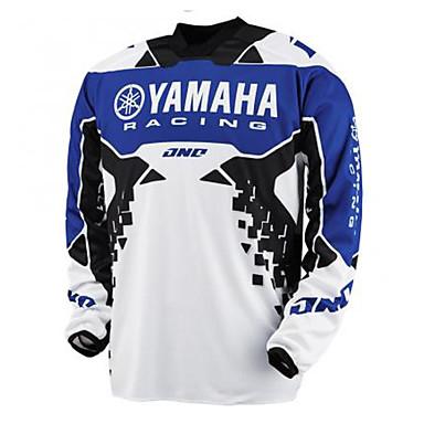 baratos Jaquetas de Motociclista-motocicleta jersey 16 yamaha racing speed rendição t-shirt verão manga longa top motocicleta mountain bike cross-country velocidade rendição