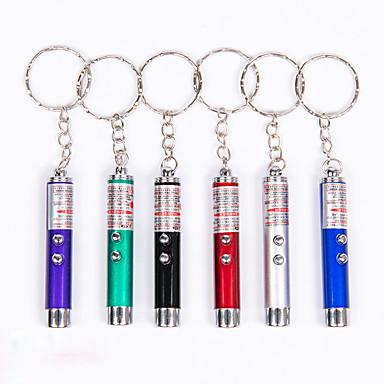 olcso LED kulcstartók-Kulcstartó elemlámpák Mini 50 lm Lézer LED 1 Sugárzók 1 világítás mód 3 az 1-ben Mini Hordozható Kempingezés és túrázás Halászat Mászás / Alumínium ötvözet