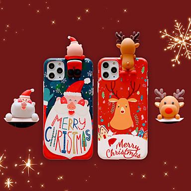 رخيصةأون أغطية أيفون-غطاء من أجل Apple اي فون 11 / iPhone 11 Pro / iPhone 11 Pro Max IMD / مثلج / نموذج غطاء خلفي عيد الميلاد TPU