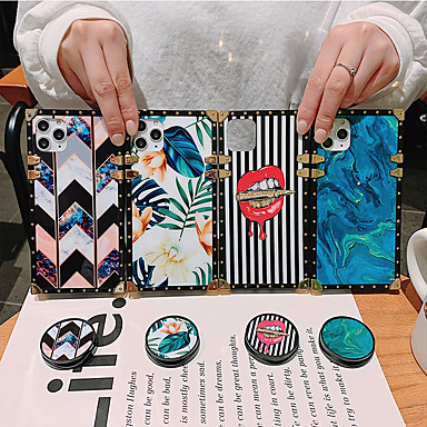 cheap iPhone Cases-Case For Apple iPhone 11 / iPhone 11 Pro / iPhone 11 Pro Max Shockproof / with Stand / Pattern Back Cover Lines / Waves / Flower / Marble Acrylic